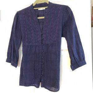 Blue Aeropostale Blouse with Buttons